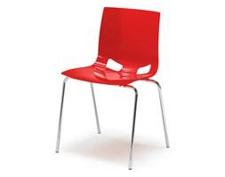 Krzesło do stołówki JUNO, czerwony