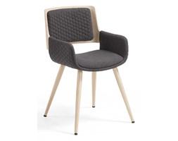 Krzesło BAHAM z podłokietnikami ciemnoszare