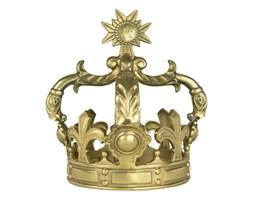 """KORONA DEKORACYJNA ZŁOTA METALOWA """" KING M """"23 X 23 X 29 CM"""
