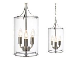 Skandynawska LAMPA wisząca VINGA 104652 Markslojd szklana OPRAWA świecznikowa ZWIS na łańcuchu chrom przezroczysty