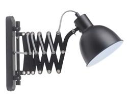 Kinkiet LAMPA ścienna HARMONY S BK metalowa OPRAWA vintage na wysięgniku harmonijka czarna