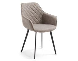 Krzesło ALRIK z podłokietnikami beżowe