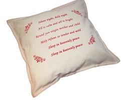 Świąteczna poduszka dekoracyjna z  kolędą  Silent Night 40x40