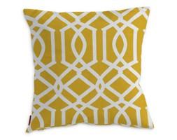 Dekoria Poszewka Kinga na poduszkę, żółty w białe wzory, 43 × 43 cm, Comics