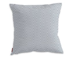 Dekoria Poszewka Kinga na poduszkę, białe zygzaki na szarym tle, 43 × 43 cm, Brooklyn