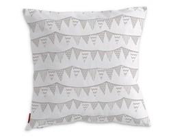 Dekoria Poszewka Kinga na poduszkę, chorągiewki biało-beżowe, 43 × 43 cm, Wyprzedaż do -50%