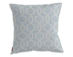 Dekoria Poszewka Kinga na poduszkę, pastelowo niebieski w szary marokański wzórwzór tle, 43 × 43 cm, Comics