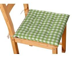 Dekoria Siedzisko Karol na krzesło, zielono biała kratka (1,5x1,5cm), 40 × 40 × 3,5 cm, Quadro