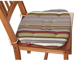 Dekoria Siedzisko Filip na krzesło, kolorowe pasy, 41 × 38 × 3,5 cm, Flowers
