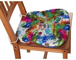 Dekoria Siedzisko Filip na krzesło, kolorowe mazaje na białym tle, 41 × 38 × 3,5 cm, New Art