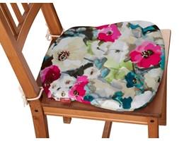 Dekoria Siedzisko Filip na krzesło, kolorowe kwiaty z przewagą niebieskiego, 41 × 38 × 3,5 cm, Monet
