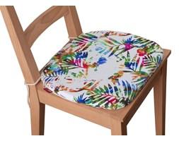 Dekoria Siedzisko Bartek na krzesło, kolorowe liście na białym tle, 40 × 37 × 2,5 cm, New Art