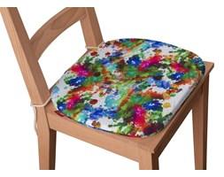 Dekoria Siedzisko Bartek na krzesło, kolorowe mazaje na białym tle, 40 × 37 × 2,5 cm, New Art