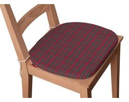 Dekoria Siedzisko Bartek na krzesło, czerwony, zielony, krata, 40 × 37 × 2,5 cm, Bristol
