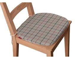 Dekoria Siedzisko Bartek na krzesło, czerwono- szara krata na beżowo- szarym tle, 40 × 37 × 2,5 cm, Edinburgh