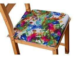 Dekoria Siedzisko Olek na krzesło, kolorowe mazaje na białym tle, 42 × 41 × 3,5 cm, New Art