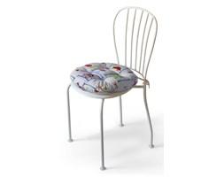 Dekoria Siedzisko Adam na krzesło, kolorowe obrazki zwierzątek na szarym tle, fi 37 × 8 cm, Apanona do -50%