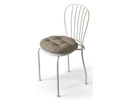 Dekoria Siedzisko Adam na krzesło, szaro- beżowa krata , fi 37 × 8 cm, Edinburgh