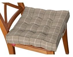 Dekoria Siedzisko Kuba na krzesło, szaro- beżowa krata , 40 × 40 × 6 cm, Edinburgh