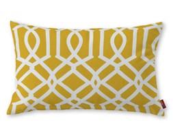 Dekoria Poszewka Kinga na poduszkę prostokątną, żółty w białe wzory, 60 × 40 cm, Comics