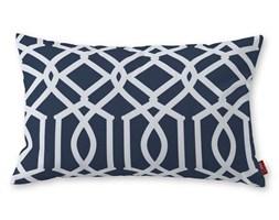 Dekoria Poszewka Kinga na poduszkę prostokątną, granatowy w białe wzory, 60 × 40 cm, Comics
