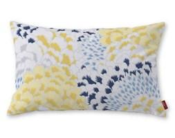 Dekoria Poszewka Kinga na poduszkę prostokątną, żółto-szaro-niebieskie motywy roślinne, 60 × 40 cm, Brooklyn