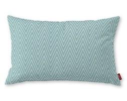 Dekoria Poszewka Kinga na poduszkę prostokątną, białe zygzaki na miętowym tle, 60 × 40 cm, Brooklyn