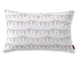 Dekoria Poszewka Kinga na poduszkę prostokątną, chorągiewki biało-beżowe, 60 × 40 cm, Wyprzedaż do -50%