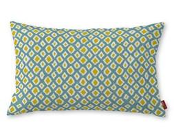 Dekoria Poszewka Kinga na poduszkę prostokątną, oliwkowo-żółte romby na turkusowym tle , 60 × 40 cm, Comics