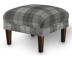 Dekoria Podnóżek do fotela, krata w odcieniach szarości, 56 × 56 × 40 cm, Edinburgh