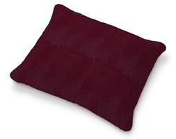 Dekoria Poszewka na poduszkę Karlstad 58x48cm, bordowy szenil, 58 × 48 cm, Chenille