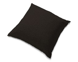 Dekoria Poszewka Tomelilla 55x55cm, czarny z brązowymi nitkami, 55 × 55 cm, Madrid