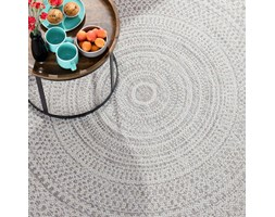 Dekoria Dywan Breeze Circles wool/cliff grey 160x230cm, 160 × 230 cm