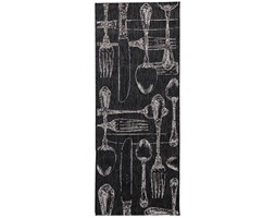 Dekoria Dywan Cottage Cutlery black/wool 60x180cm, 60 × 180 cm