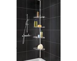 Narożna, teleskopowa półka łazienkowa pod prysznic - aż 4 poziomy, WENKO