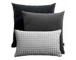 Srebrno-czarno-szary zestaw poduszek welurowych + Pepitka