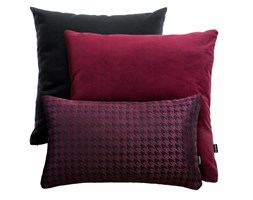 Bordowo-czarny zestaw poduszek welurowych + Pepitka