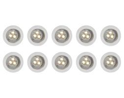 Lampy punktowe wpuszczane 10szt. Ø30 mm