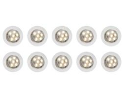 Lampy punktowe wpuszczane 10szt. Ø45 mm