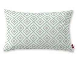 Dekoria Poszewka Kinga na poduszkę prostokątną, szaro- miętowe romby na białym tle, 60 × 40 cm, Geometric