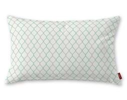 Dekoria Poszewka Kinga na poduszkę prostokątną, szaro-miętowe fale na białym tle, 60 × 40 cm, Geometric