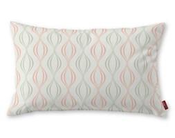 Dekoria Poszewka Kinga na poduszkę prostokątną, szaro-łososiowe fale na białym tle, 60 × 40 cm, Geometric