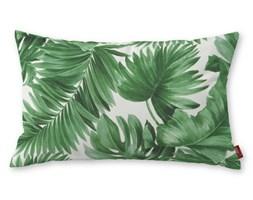 Dekoria Poszewka Kinga na poduszkę prostokątną, zielone liście na białym tle, 60 × 40 cm, Urban Jungle