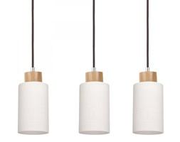 BOSCO lampa wisząca typu belka 3 x 60W E27 sufitowa drewno nowoczesny design SPOT LIGHT 1711370