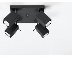 MERIDA plafon reflektorowy 4 x 40W GU10 kwadratowy metalowy czarny SOLLUX LIGHTING SL.0102