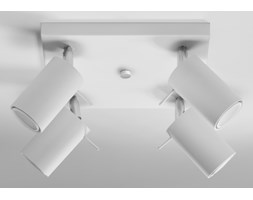 RING plafon reflektorowy 4 x 40W GU10 kwadratowy metalowy biały SOLLUX LIGHTING SL.0090