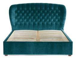Łóżko Lavender (160X200) Welurowe (Welur bawełna 100% TURKUSOWY)