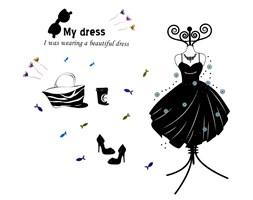 Naklejka na ścianę My dress WS-0132