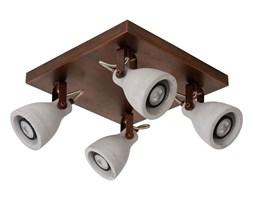Lucide 05910/19/17 - LED Oświetlenie punktowe CONCRI-LED 4xGU10/5W/230V brązowe 30 cm