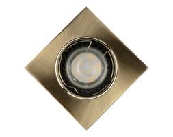 Lucide 11002/05/03 - LED Oprawa wpuszczana FOCUS 1xGU10/5W/230V brąz kanciasta